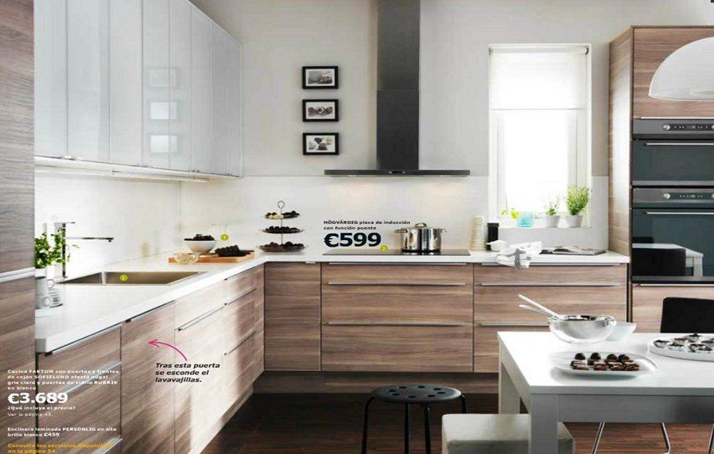 Resultado de imagen para cocinas con piso oscuro muebles melamine cocinas cocina ikea y - Muebles de cocina estilo retro ...
