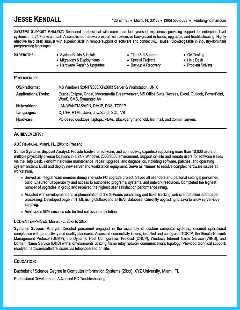 Awesome Best Secrets About Creating Effective Business Systems Analyst Resume Job Resume Samples Business Systems Resume Examples