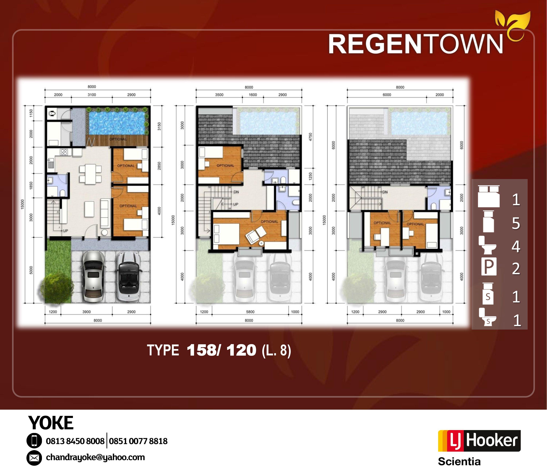 Regentown Ultimate Lifestyle Bsd City Denah Rumah Arsitektur Rumah