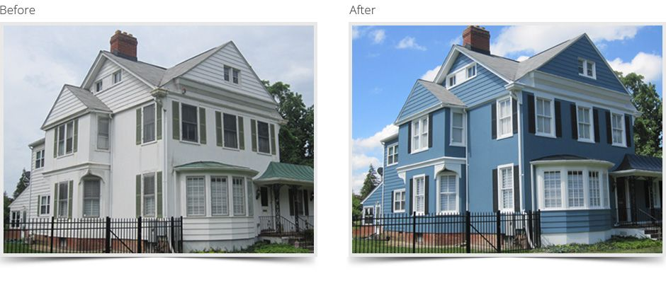 Colors Used For This Project Are From Benjamin Moore Siding Bm Philipsburg Blue Hc 159 Shutters E Black 2119 10 Trim Oxford White 869