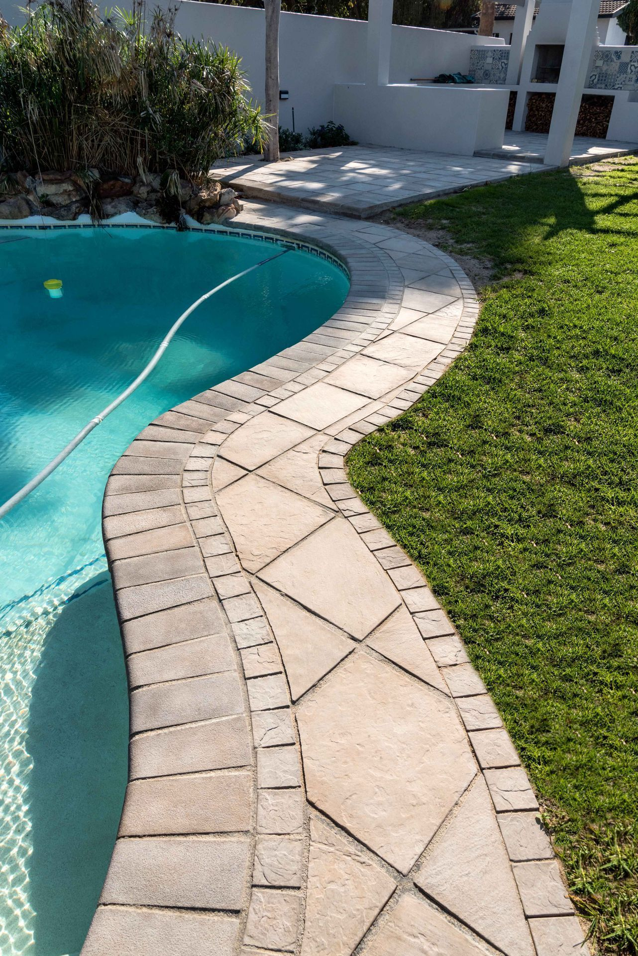 With Surefoot Coping You Can Customise Each Paver To Fit The Shape