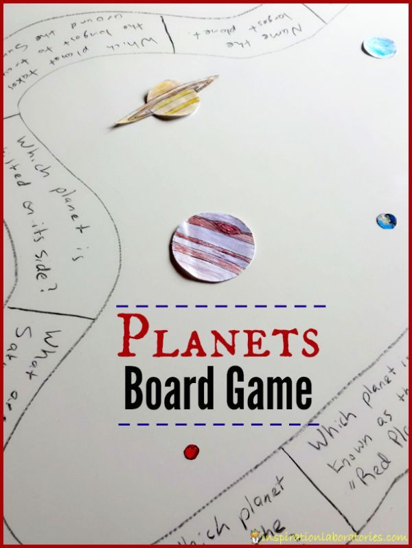 Diy Planets Board Game Inspiration Laboratories Science Activities For Kids Solar System Unit Earth And Space Science