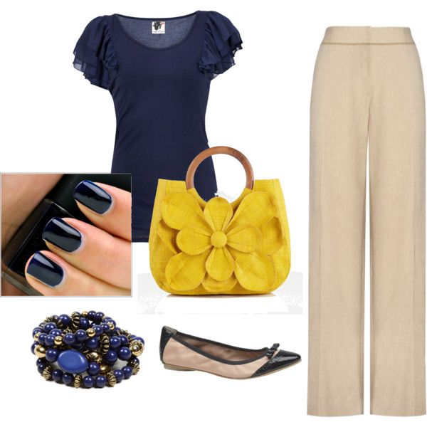 Classy navy, created by smartcookie77 on Polyvore