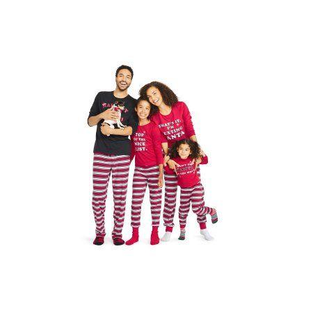 4dce1b9f7b Girl s Holiday Family Pajamas Nice List 2 Piece Sleepwear Set