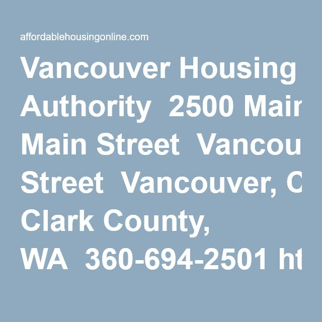 Vancouver Housing Authority In Washington Vancouver Author Clark County