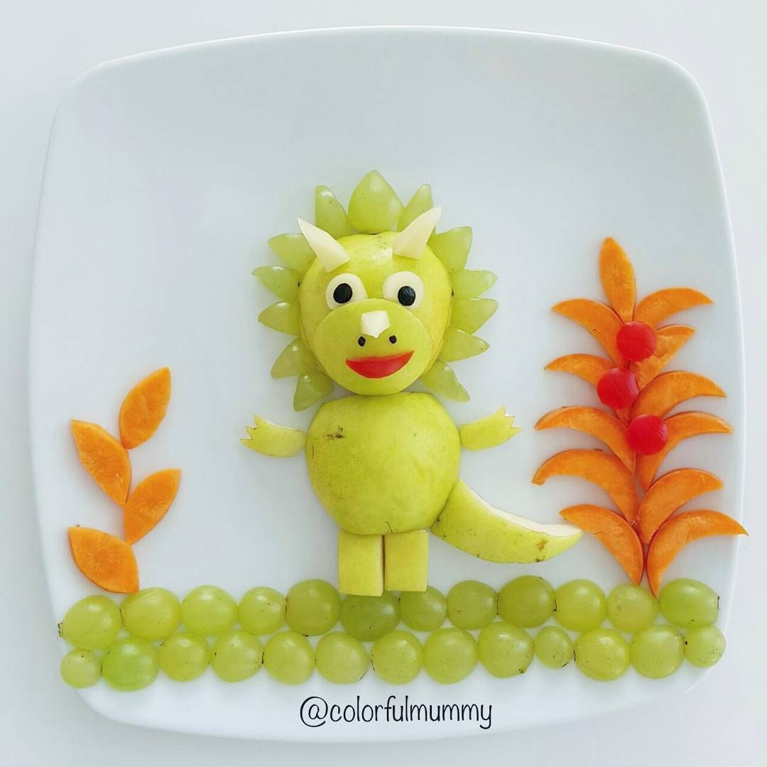 Fruity triceratops by @colorfulmummy