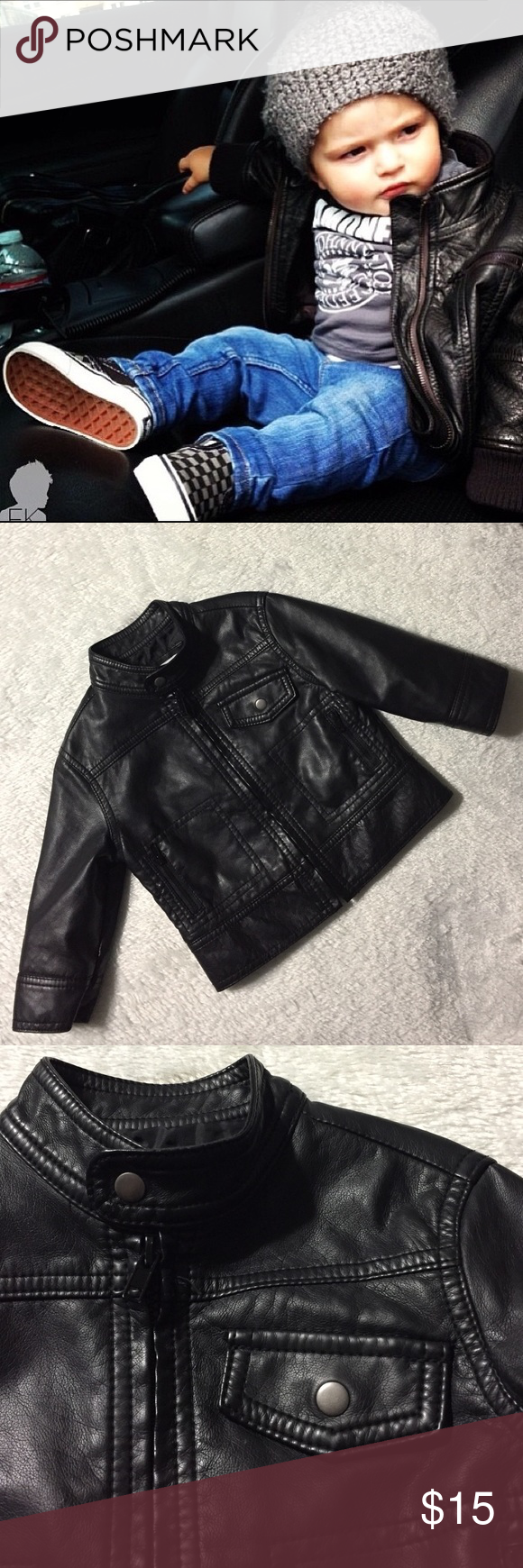 Hp Baby Vegan Leather Jacket Size 12months Vegan Leather Jacket Leather Jacket Jackets