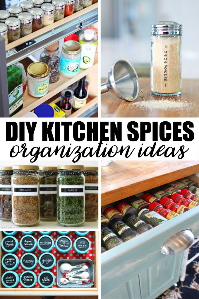20 Creative DIY Kitchen Spices Organization Ideas | Spice Organization,  Organization Ideas And Organizations