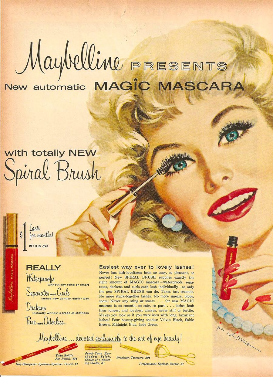 Maybelline's first spiral brush mascara, 'Magic Mascara
