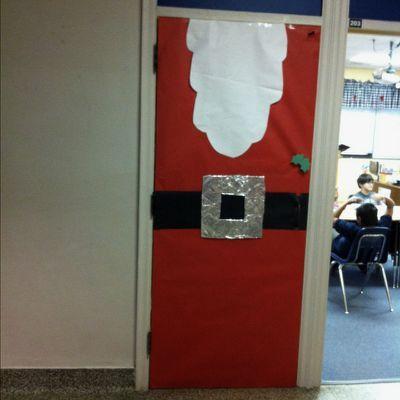 Easy Santa Classroom Door Decoration Door Decorations Classroom School Door Decorations School Doors