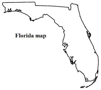 Florida Map And Flag Coloring Pages