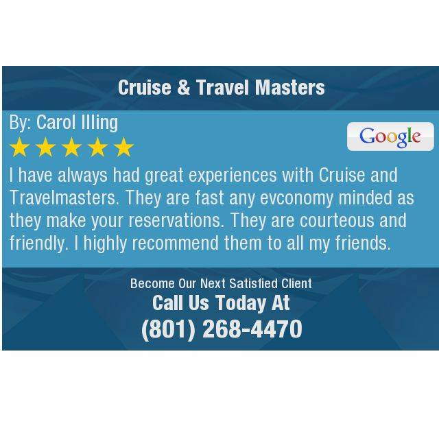 I Have Always Had Great Experiences With Cruise And Travelmasters They Are Fast Any This Or That Questions Dental Center Testimonials