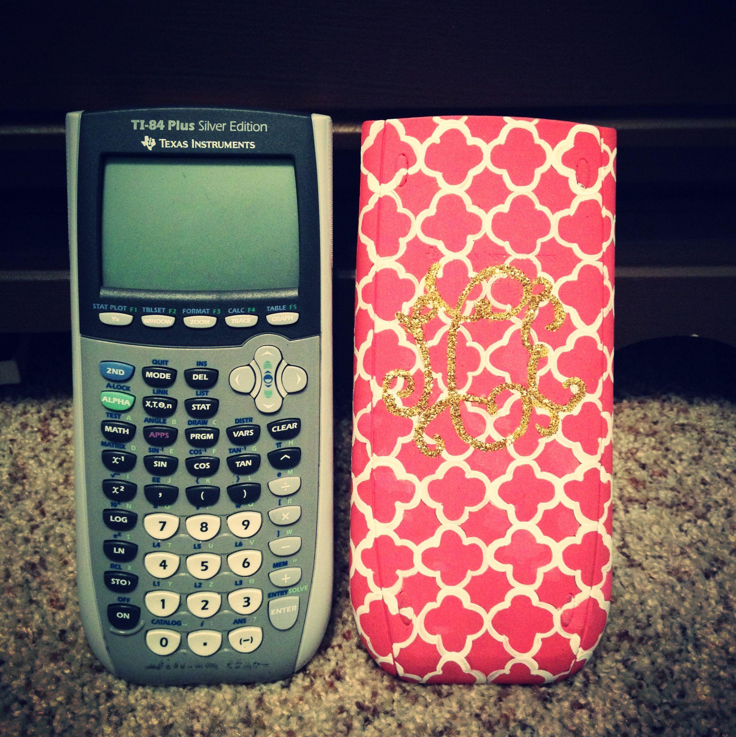 Painted calculator | home-made things | Diy school supplies, School