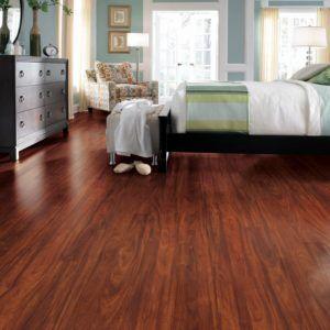 Traditional Living Premium Laminate Flooring Red Mahogany Design