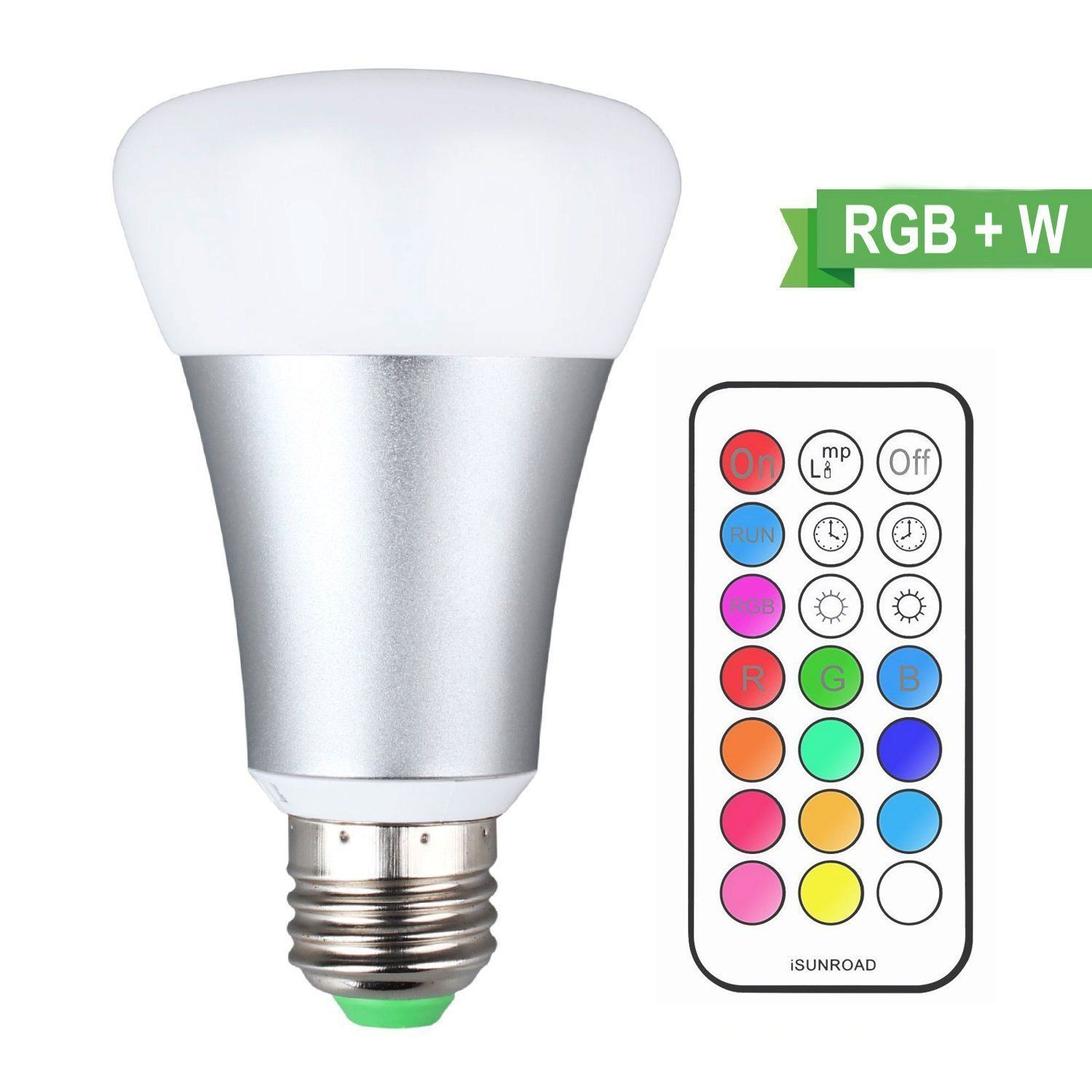 Rgbw E26 E27 10w Led Bulb With Remote Control Led Bulb Color Changing Light Bulb Light Bulb