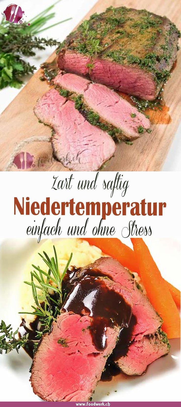 Photo of Pink fillet of beef wrapped in herbs with balsamic sauce Food Blog Switzerland   foodwerk.ch