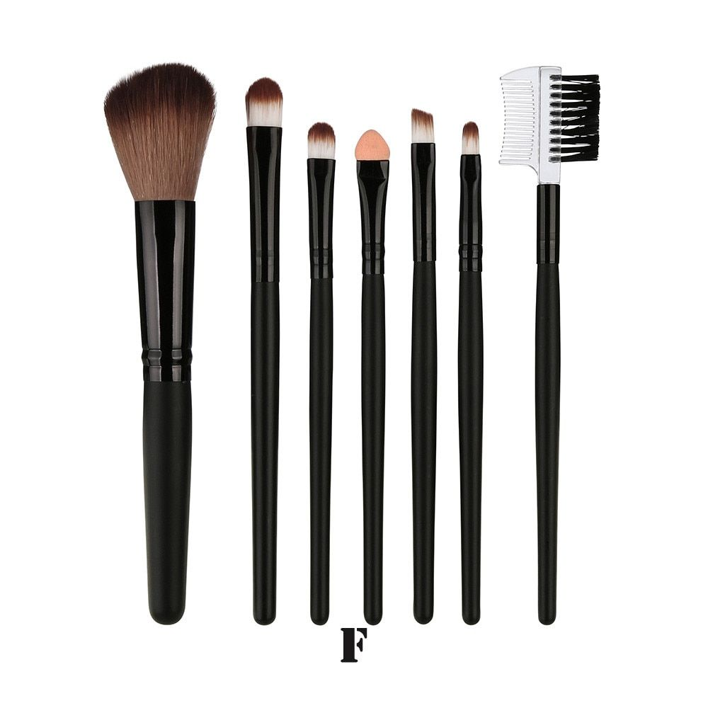 7 Teile Blending Pinsel Werkzeug Holz Make-Up Pinsel Lidschatten Pinsel Kosmetik pinceis de maquiagem – cc,china