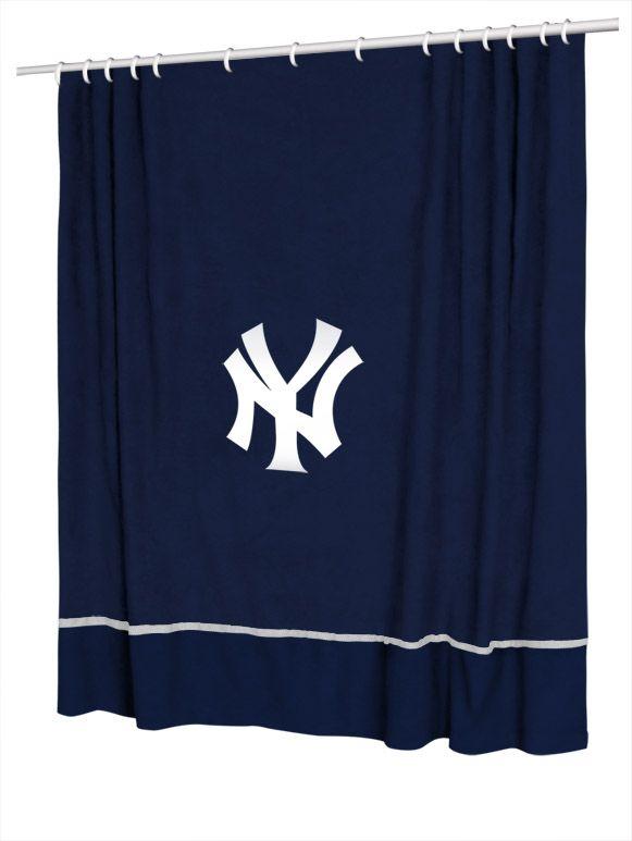 New York Yankees 6 Foot By 6 Foot Screen Printed Mlb Team Shower