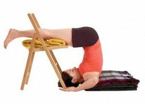 halasana iyengar yoga for the sinuses  yoga con silla