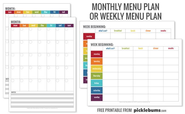 Simple Tips for Meal Planning menu template Meal planner