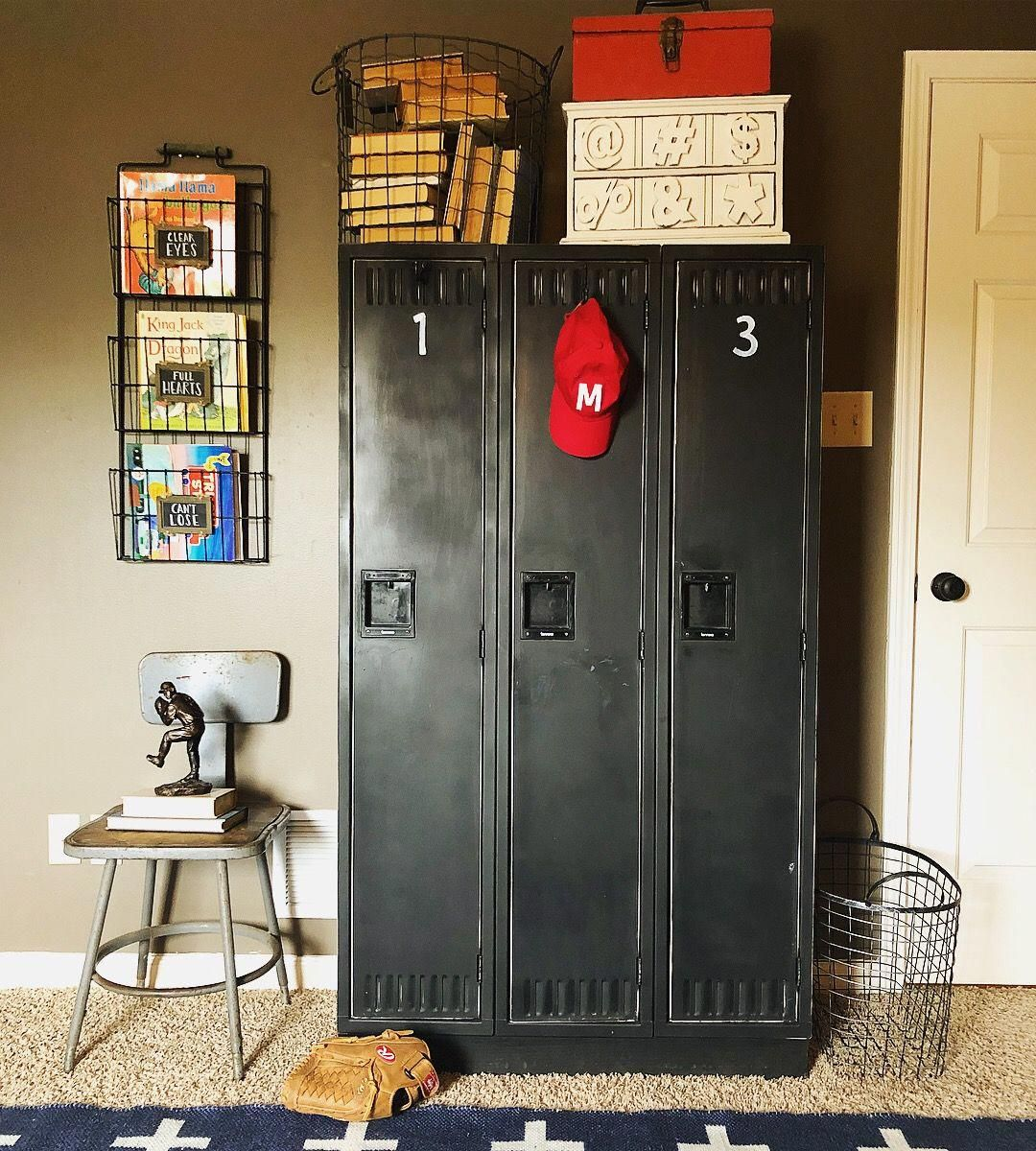 Old Lockers Are Perfect In A Boys Room
