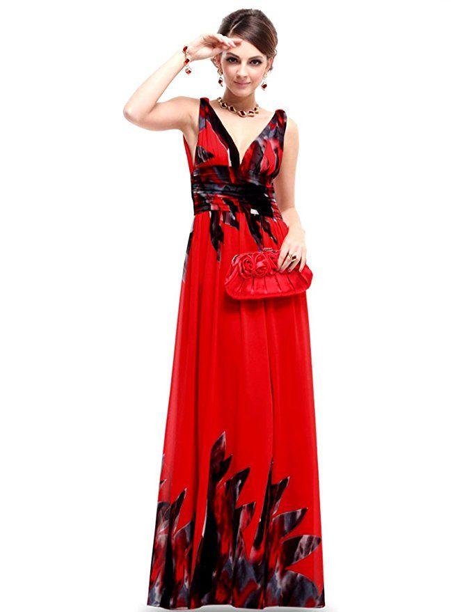 c9d86544d6 Ever Pretty Sleeveless V-Neck Semi-Formal Maxi Dress 09016 at Amazon  Women s Clothing store