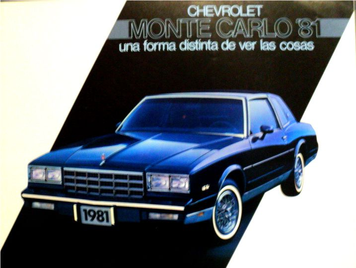 Montecarlo 1981 Venezuela Suv Car Nostalgia Suv