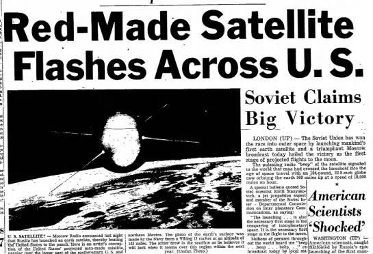 sputnik and the cold war This event added a new component to the arsenal of weaponry fueling the cold  war already in progress and running in high gear the socialist countries were.