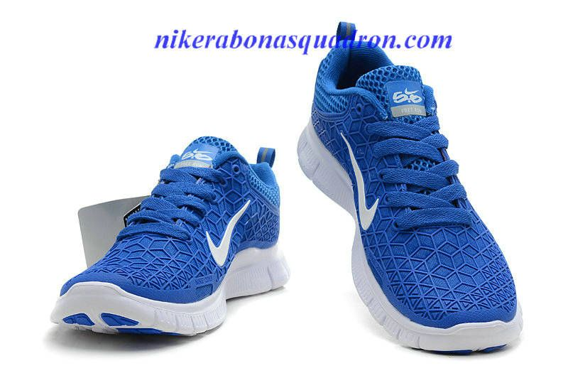 Women Nike Free 6.0 Blue White Running Shoes