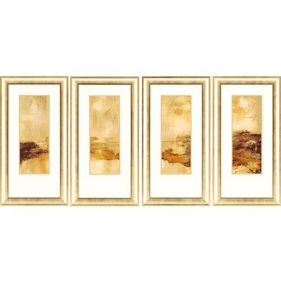 Paragon Soul of a Tree 4 Piece Framed Painting Print Set