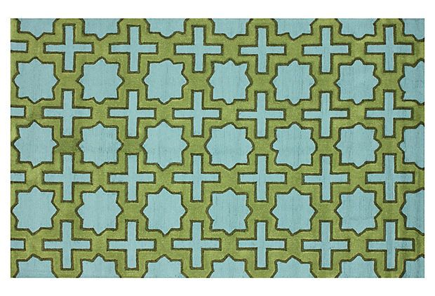 Hershey Outdoor Rug, Blue on OneKingsLane.com