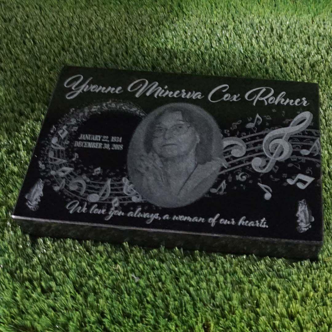 Laser Engraved Marker Granite Memorial Marker Custom Memorial Flat Grass Marker Granite Headstone With Images Granite Memorial Custom Memorial Memorial Markers