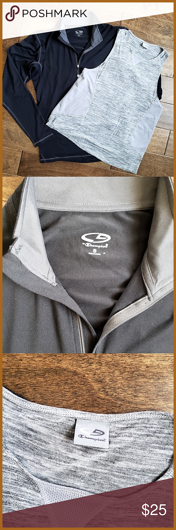 Champion Pullover Tank Top Bundle Small Women s black pullover and gray tank top by Champion bundle Size small Make me an offer Champion Jackets 038 C Champion Pullover T...