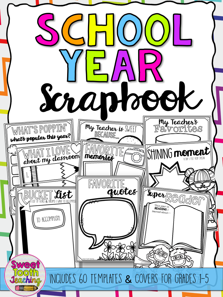 Scrapbook ideas school - Scrapbook Includes Everything Your Students Need To Make Their School Year Memorable This 62