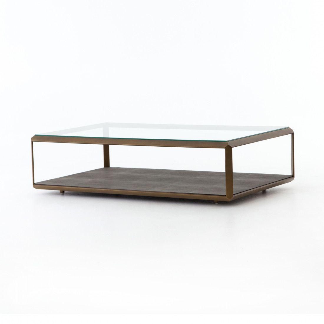Shagreen Shadow Box Coffee Table Shadow box coffee table