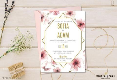 Wedding Invitation Templates Cherry Blossom Invitation templates