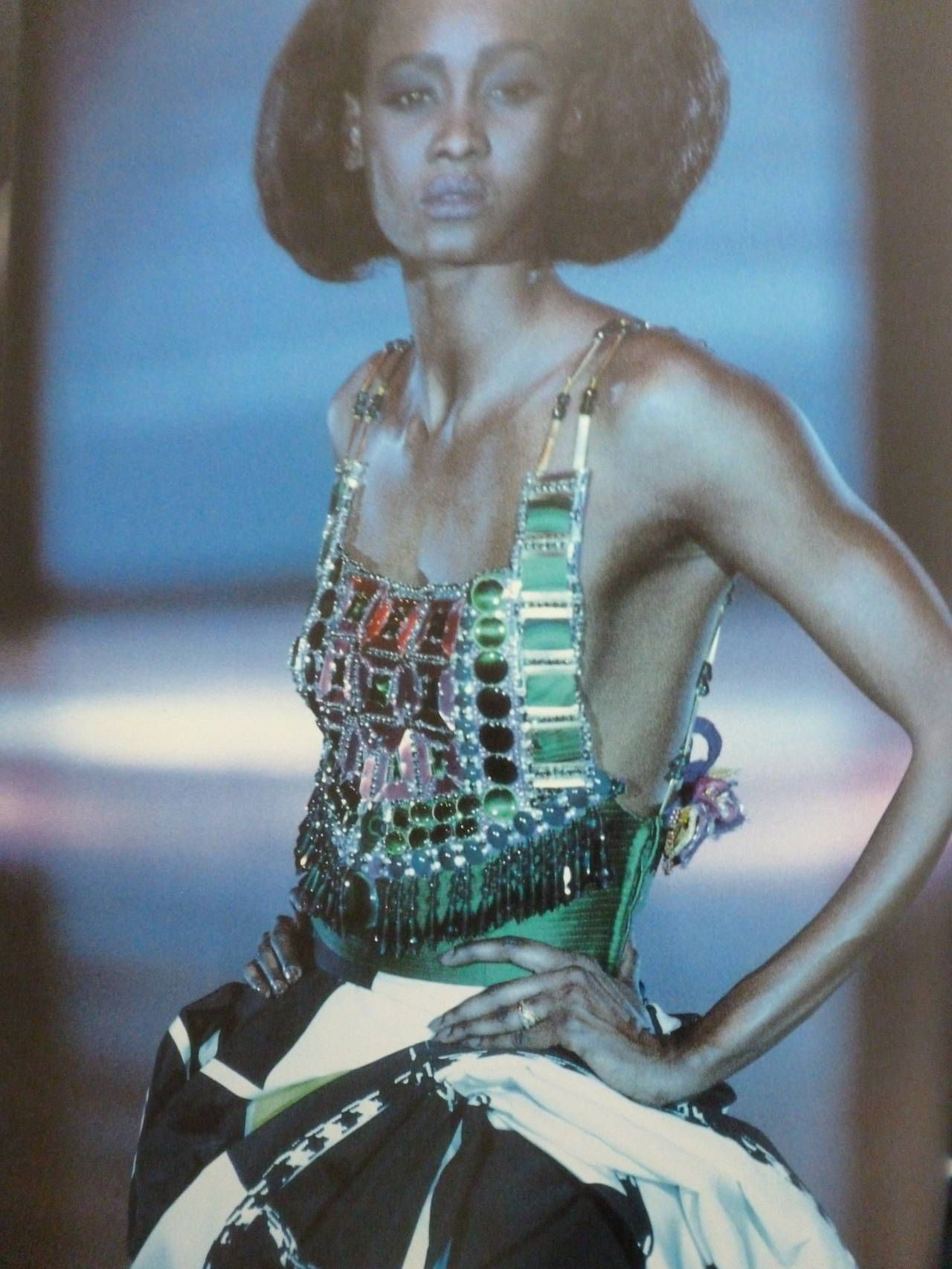 Iconic Atelier Versace Beaded Bodice Breastplate Spring 1991 image 7