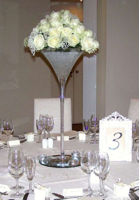 Love Martini Vase Centrepieces Adds Hight And Wow Factor