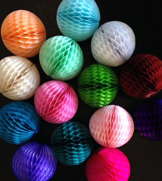 Honeycomb Decorations Paper Balls Honeycomb Ball 5 Inch  Tissue Paper Decorations Pomlove  My