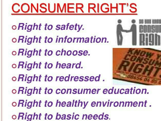 Consumer Rights Healthy Environment Right To Choose Essay