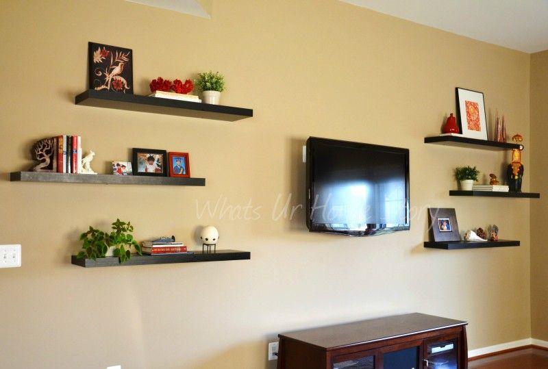 ikea floating shelves:surprising invisible shelves ikea   living ...