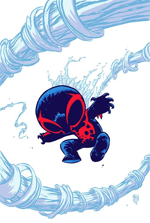 Spider-Man 2099 v2 #1 baby variant by Skottie Young