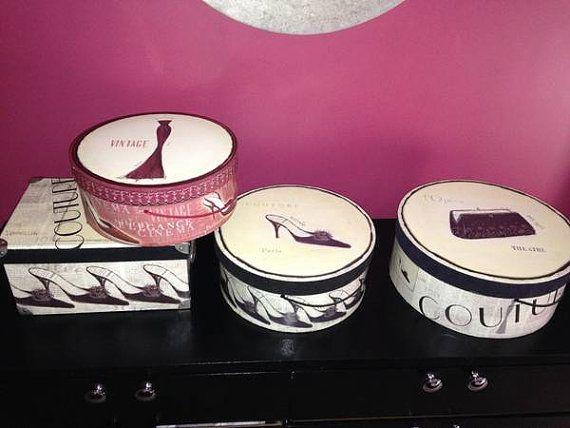 Designer Emily Adams Decorative Hat Boxes Storage