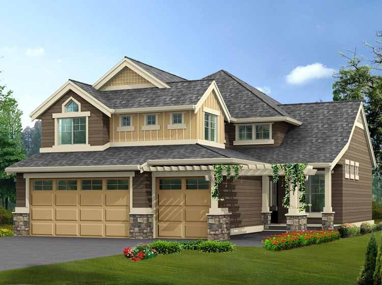 Eplans Craftsman House Plan   Narrow Lot Home With Finished Basement   3353  Square Feet And. 4 Bedroom ...