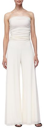 Fuzzi Strapless Fold-Over Jumpsuit, Off White on shopstyle.com $455  http://www.shopstyle.com/p/fuzzi-strapless-fold-over-jumpsuit-off-white/438429633