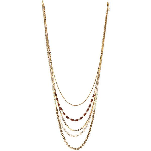 Lydell Nyc Mixed Chain & Bead Layered Necklace NH93bWvU2