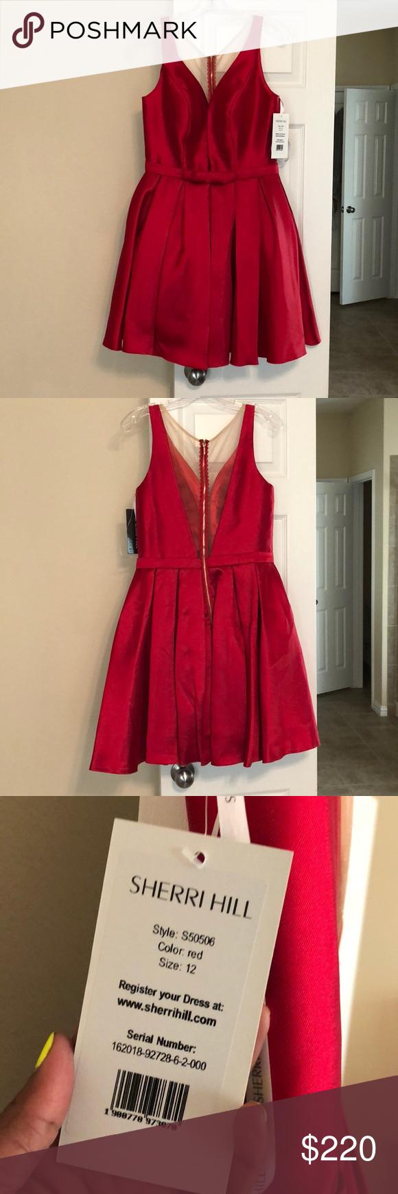 Red dress for wedding reception  Red Sherri Hill formal dress NWT  My Posh Picks  Pinterest