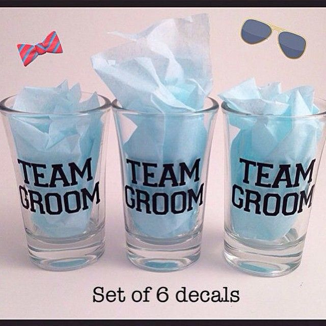 41 Unique Wedding Gift Ideas For Bride And Groom In 2020: Team Groom / Bride Shot Glasses Set Of 6