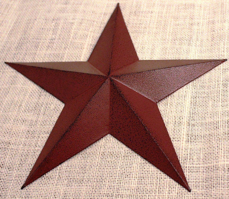 11 Large Metal Tin Barn Star Wall Decor