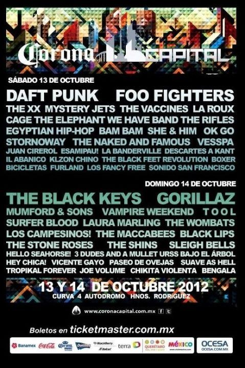 i wanna gooooo :( foo fighters, cage the elephant, the naked and famous, the black keys, vampire weekend... heart = broken right now!